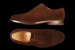 MODELLO: ROYAL - COLORE: DARK BROWN SUEDE - FORMA: 438