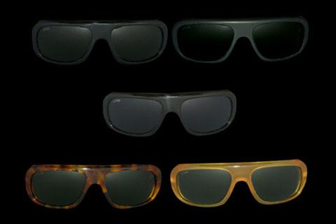 MODELLO: MCQEEN - MONTATURA in acetato nero lucido, nero opaco, tartaruga scuro, tartaruga chiaro, miele - LENTI: in puro cristallo nei colori gray, brown, green
