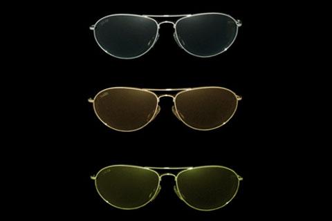 MODELLO: REDFORD - MONTATURA: metallo cromato - LENTI: in puro cristallo nei colori grey, brown, green