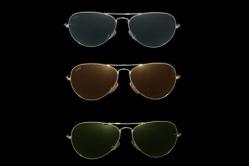 MODELLO: DEAN - MONTATURA: metallo cromato - LENTI: in puro cristallo nei colori grey, brown, green